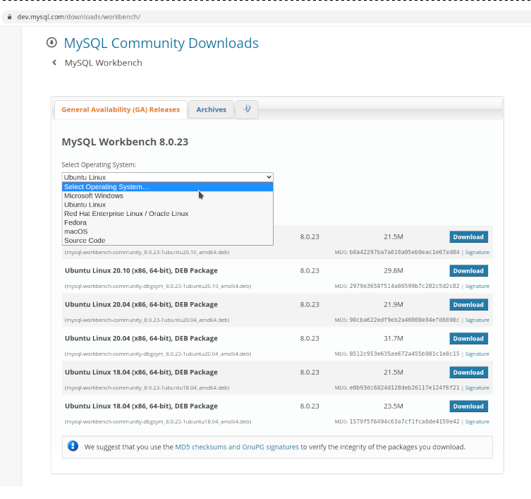 MySQL Workbench 01